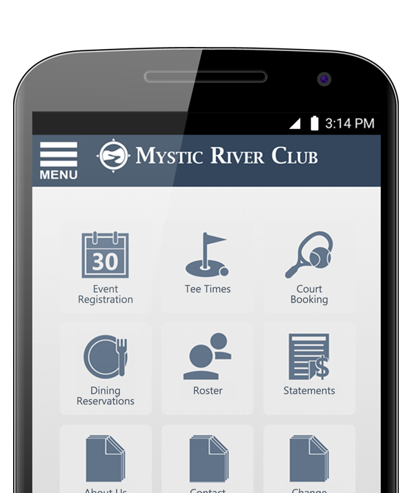 The club app that delivers integrated bookings, reservations, club content and much more.